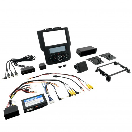 RadioPRO Integrated Installation Kit with Integrated Climate Controls For 2013 - 2018 RAM Truck and 2019 R AM Classic