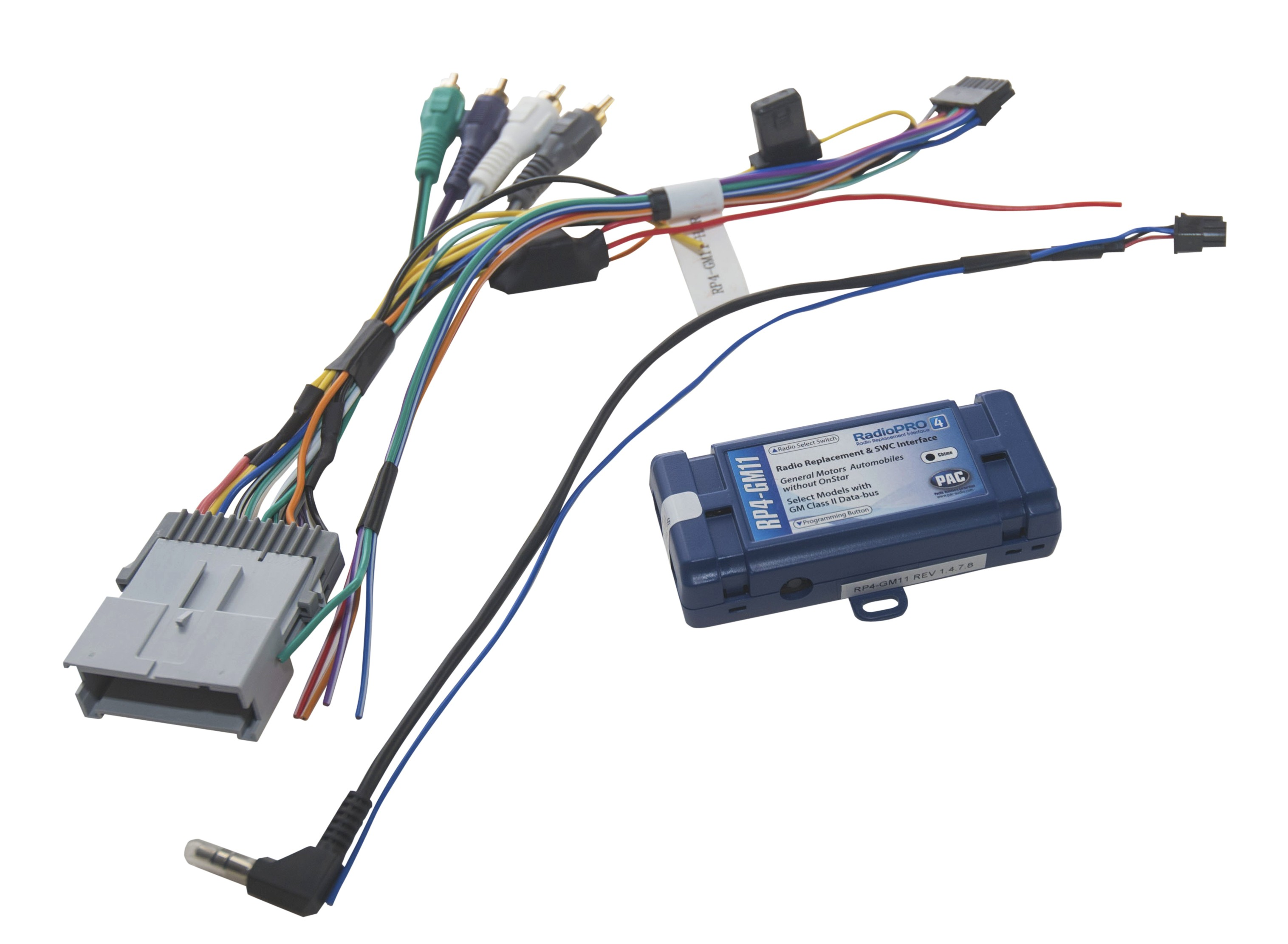 gm radio chime interface wiring diagram radiopro4 interface for general motors vehicles with class ii data  interface for general motors vehicles