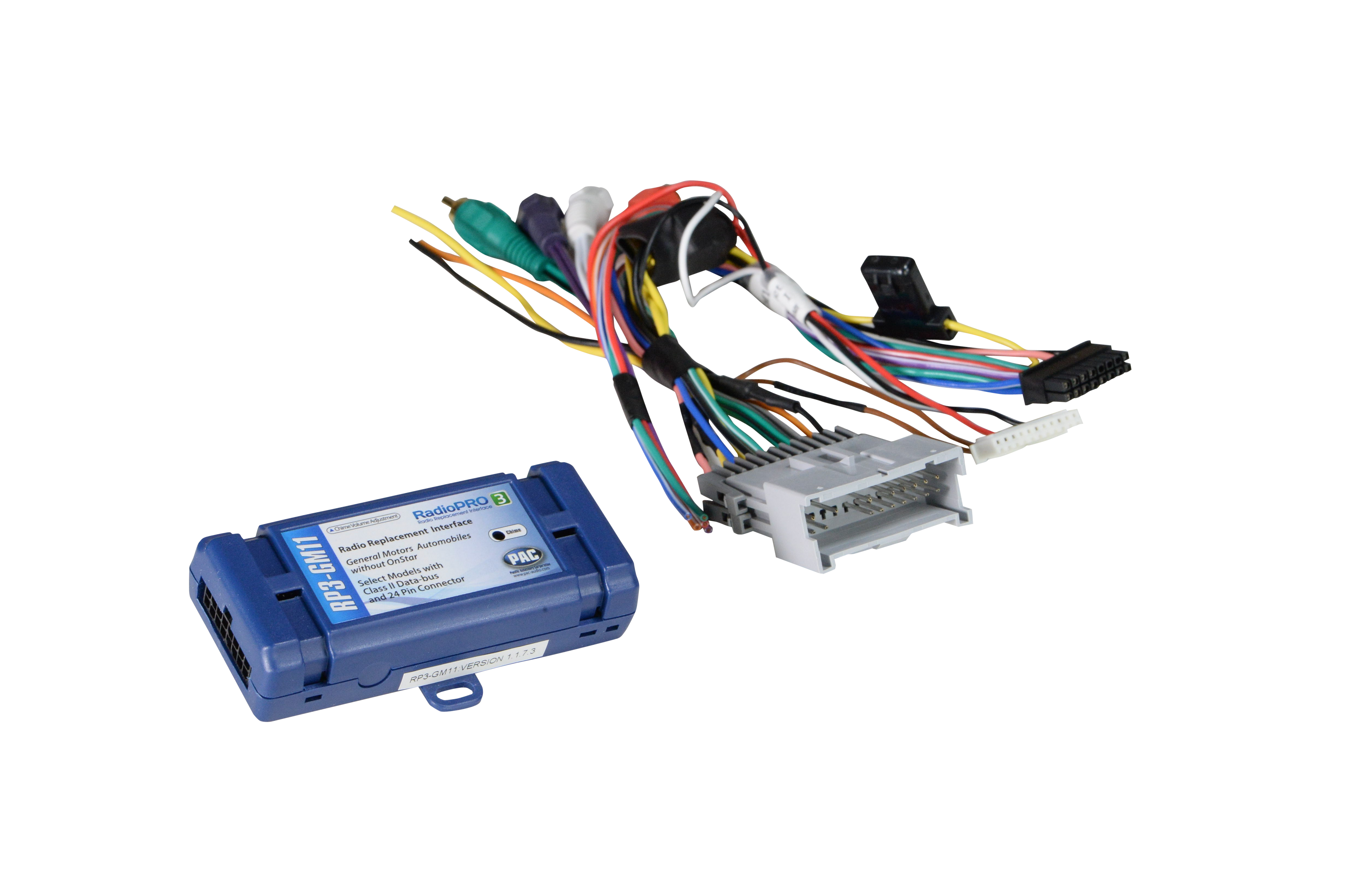gm radio chime interface wiring diagram radiopro3 interface for select gm class ii vehicles pac  radiopro3 interface for select gm class