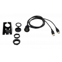 4ft Dual USB Cable With Mounting Bracket