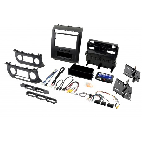 "Complete Radio Replacement Kit with Integrated Climate Controls for select Fords with 8"" Display"